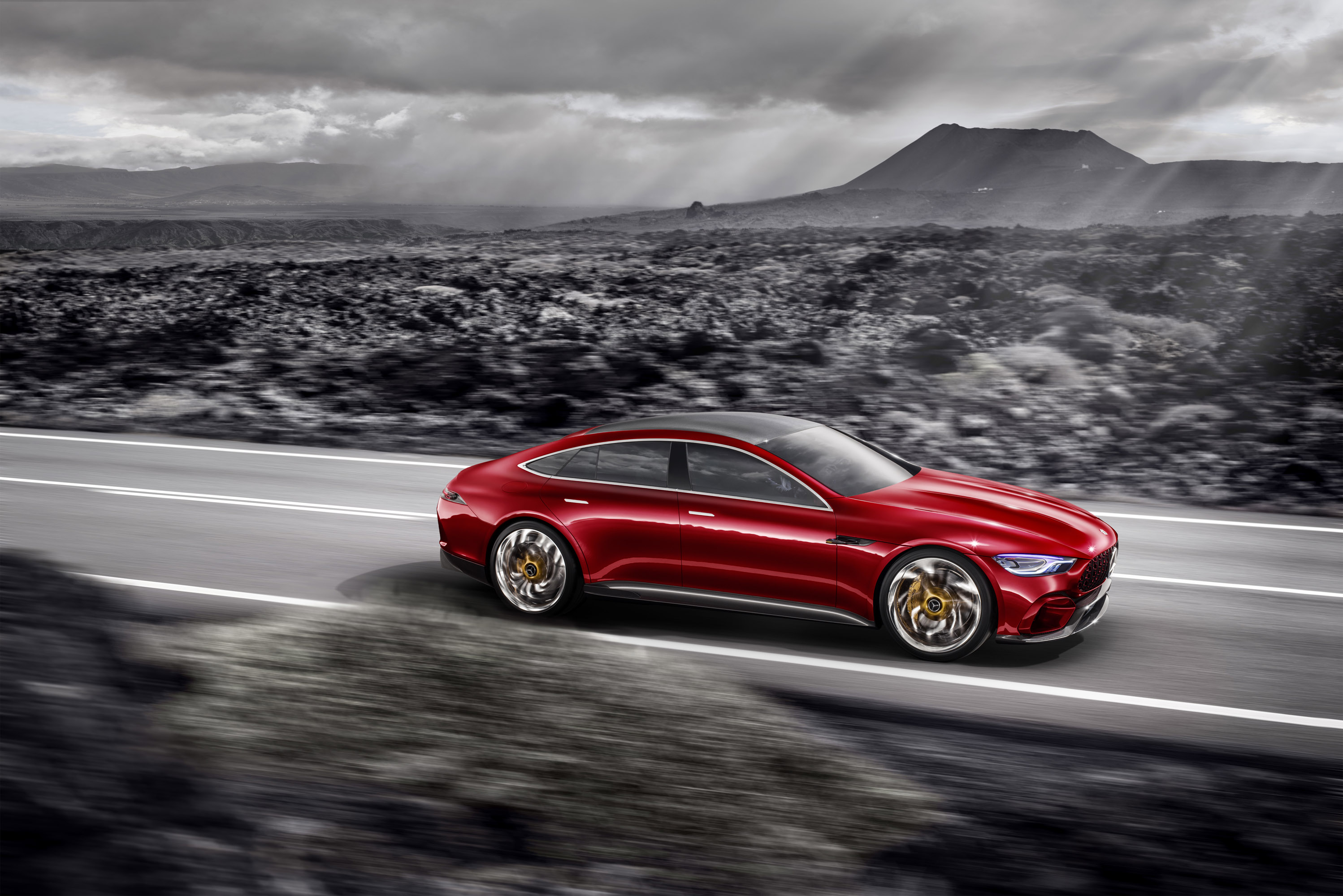 Mercedes AMG GT (C190) exterior restyling