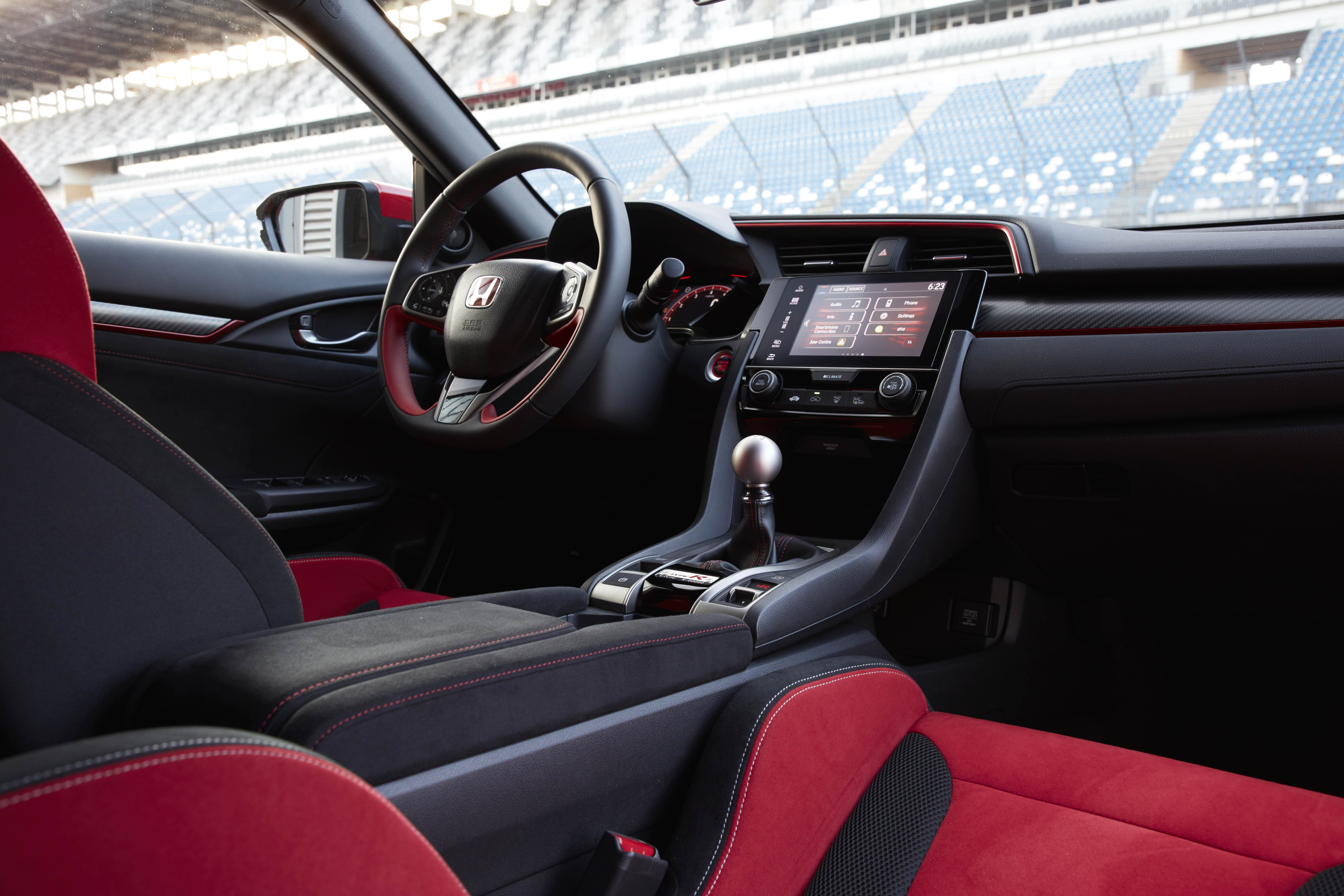 Honda Civic Type R interior specifications