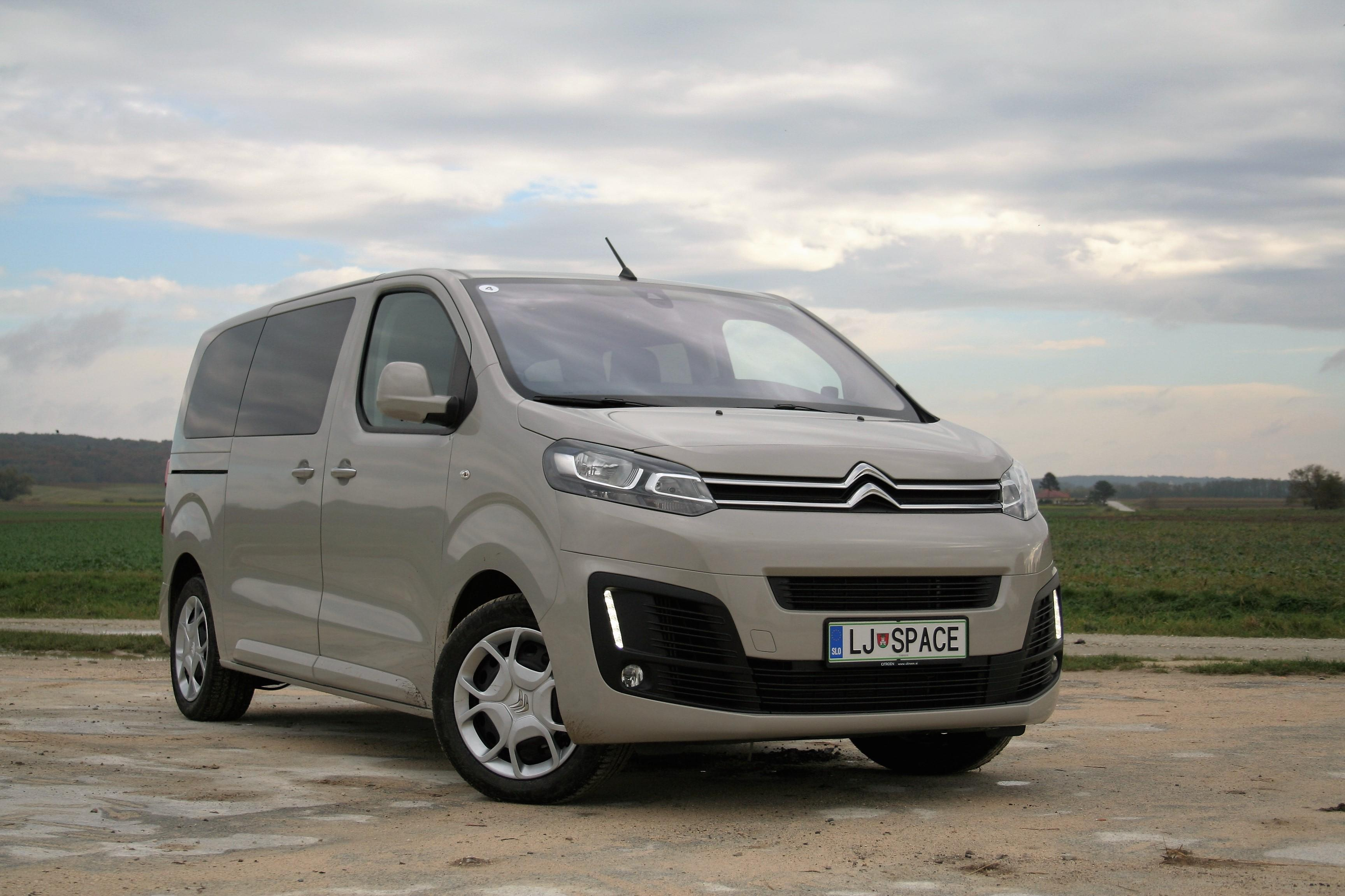 Citroen SpaceTourer minivan specifications