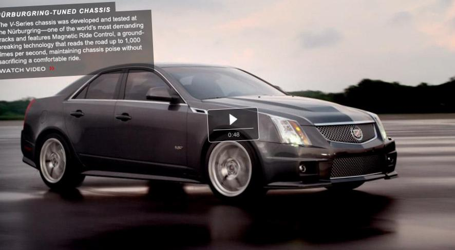 CTS Sedan Cadillac Specification sedan