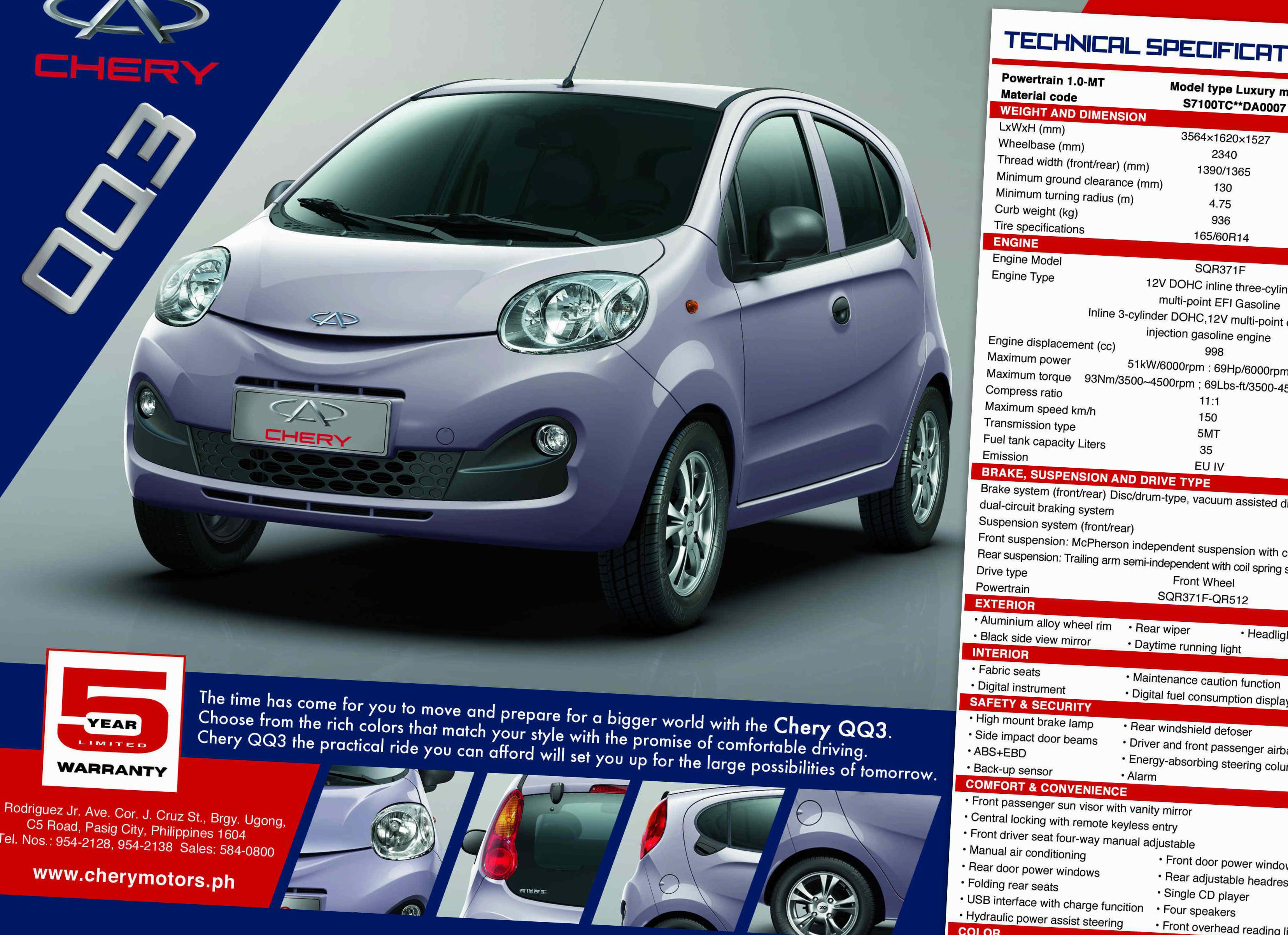 Chery QQ (S11) Photos and Specs. Photo: Chery QQ (S11) tuning and 16 ...