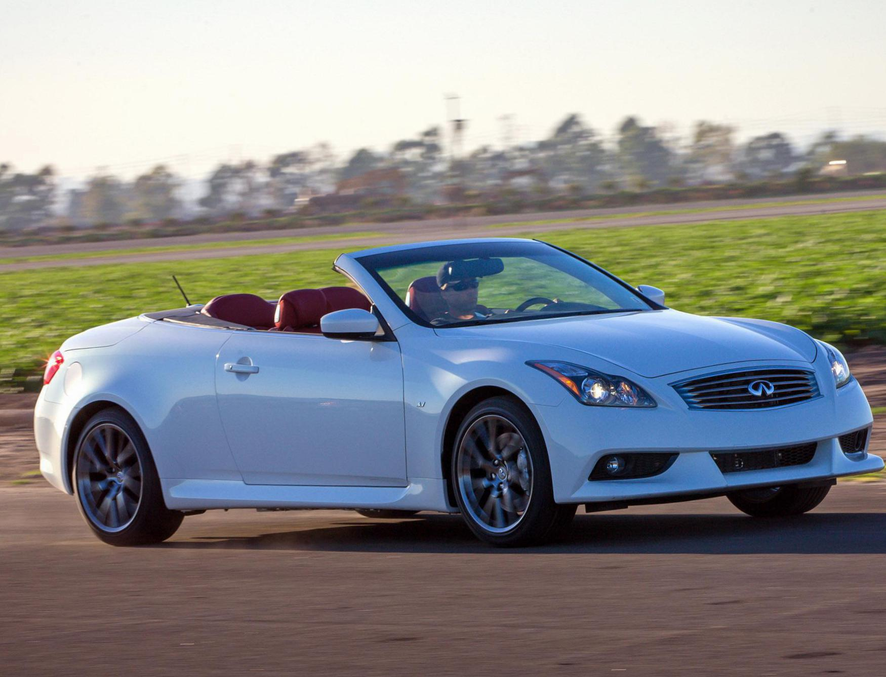 infiniti infinity news convertible first trend test in motion en side motor