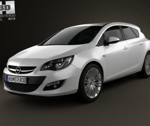 Astra J Hatchback Opel Specification 2012