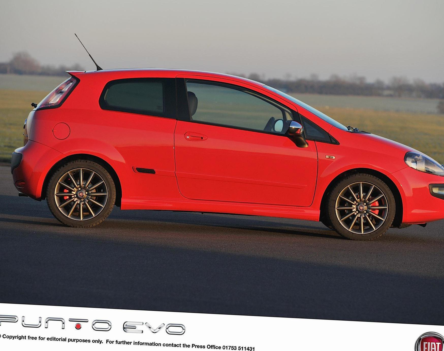 Fiat Punto Evo 3 doors Specifications 2012