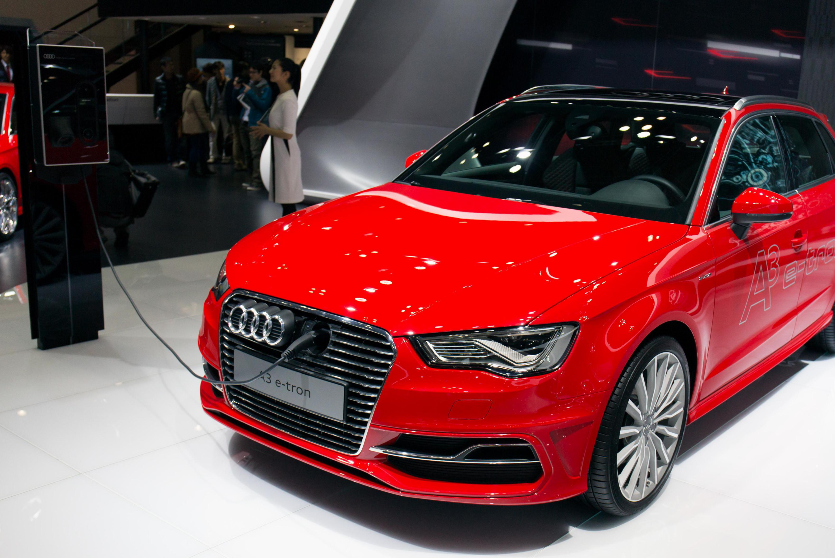 Audi A3 e-tron model hatchback