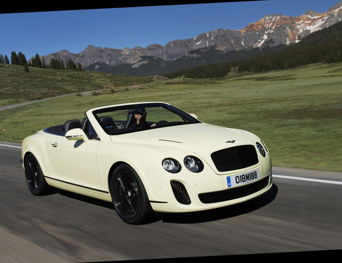 Continental Supersports Convertible Bentley new suv