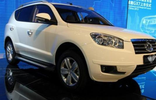 GX7 Geely configuration 2012