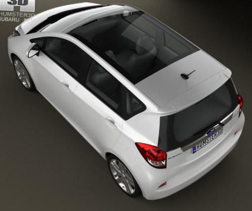 Trezia Subaru Specifications 2012