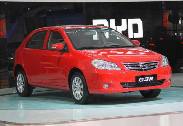 BYD G3R Specifications hatchback